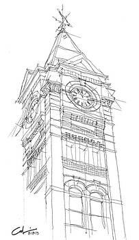 Samford Hall Sketch by Calvin Durham