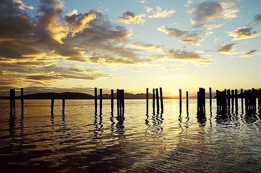 Samish Bay Sunset by Brent Easley