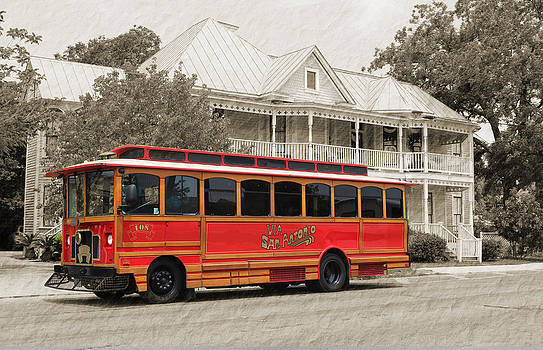 San Antonio Trolley Car by Brooke Fuller