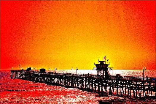 San Clemente Pier 2 by Carol Tsiatsios