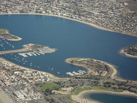 San Diego from Above by Val Oconnor