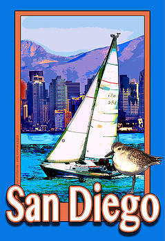 San Diego Poster by Michelle Scott