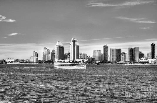 Mel Steinhauer - San Diego Skyline 2 BW