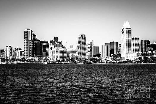 Paul Velgos - San Diego Skyline Buildings in Black and White