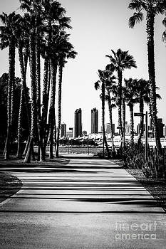 Paul Velgos - San Diego Skyline from Coronado Island in Black and White