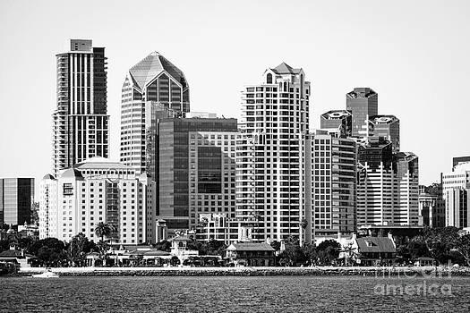Paul Velgos - San Diego Skyline in Black and White