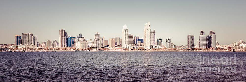 Paul Velgos - San Diego Skyline Panorama Retro Picture