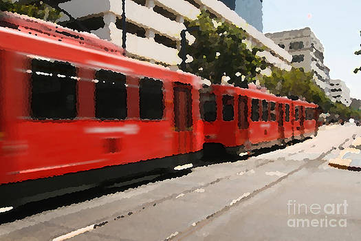 San Diego trolley by Russell Christie