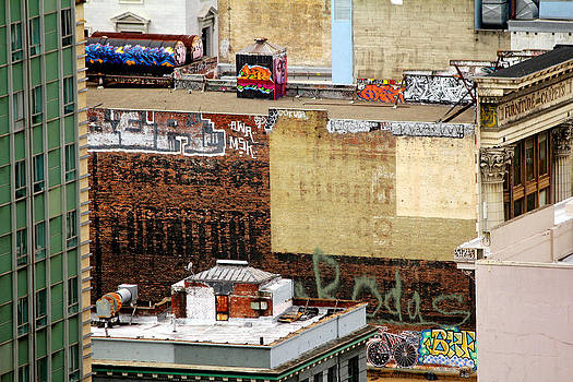 San Francisco Backstage Graffiti by Cedric Darrigrand