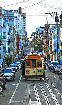San Francisco Cable Car to Powell and Market Streets by Artist and Photographer Laura Wrede