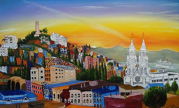 San Francisco City Lights 1 by Portland Art Creations