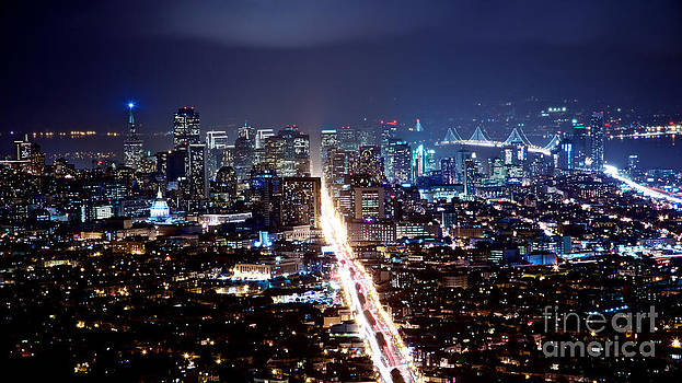 San Francisco Cityscape at Night  by Engel Ching