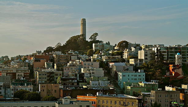 San Francisco Coit Tower at Sunset by Michele Myers