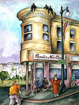 San Francisco North Beach - Watercolor Art by Art America Gallery Peter Potter