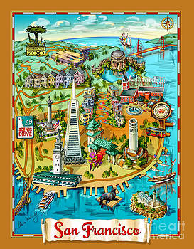 Maria Rabinky - San Francisco Illustrated Map