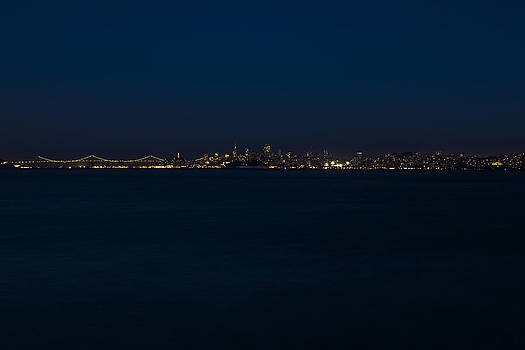 San Francisco Night Skyline by SFPhotoStore