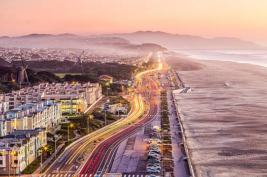 San Francisco Ocean Beach Drive by Dave Gordon