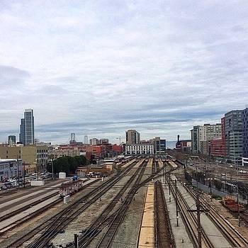 San Francisco Railroads Cal Train by Karen Winokan