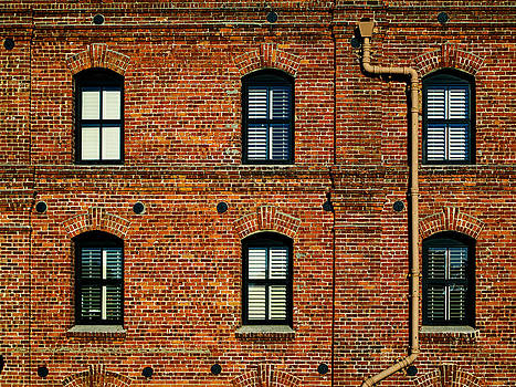 San Francisco Red Brick Building by Brian Orlovich