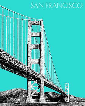 DB Artist - San Francisco Skyline Golden Gate Bridge 2 - Aqua