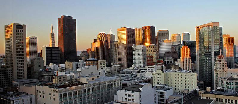 San Francisco Sunset by Cedric Darrigrand
