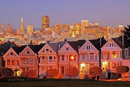 San Francisco's Painted Ladies by Jorge Guerzon