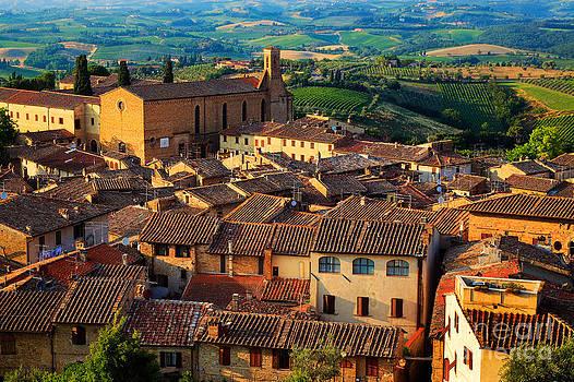 Inge Johnsson - San Gimignano from Above