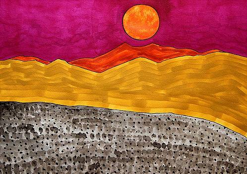 San Jacinto Moon original painting by Sol Luckman