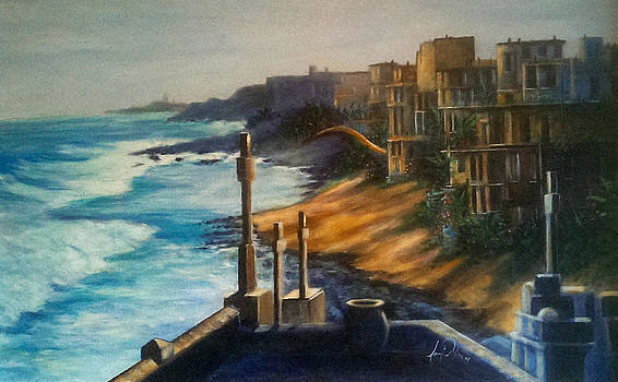 San Juan Looking Out From The Fort by Larry Palmer