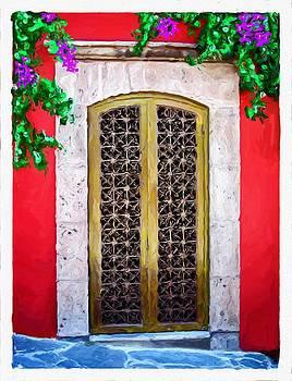 San Miguel de Allende Door 1 by Britton Britt Cagle