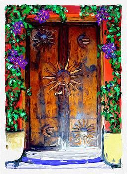 San Miguel de Allende Door 12 by Britton Britt Cagle