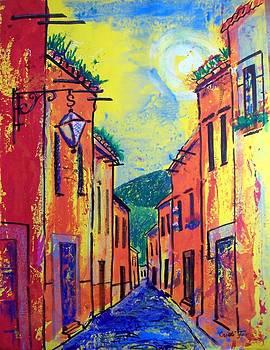 San Miguel narrow street by Cristiana Marinescu