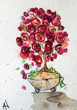 Patricia Lazaro - San Valentine Red Roses Bonsai