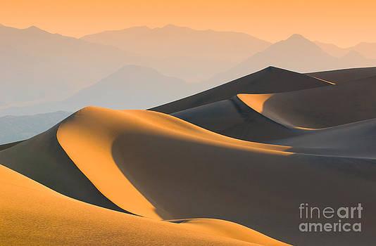 Sand Dunes Over Sunrise Sky by Konstantin Kalishko