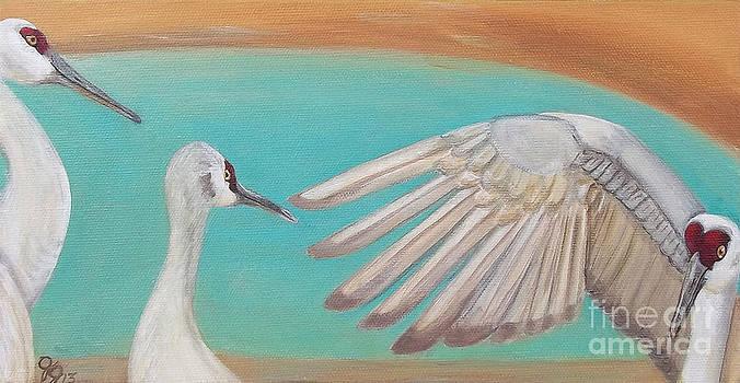Sandhill Cranes by Georgia Griffin