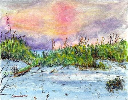 Sandy Beach by Bernadette Amedee