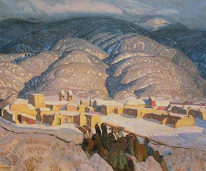Ernest L Blumenschein - Sangre de Cristo Mountains