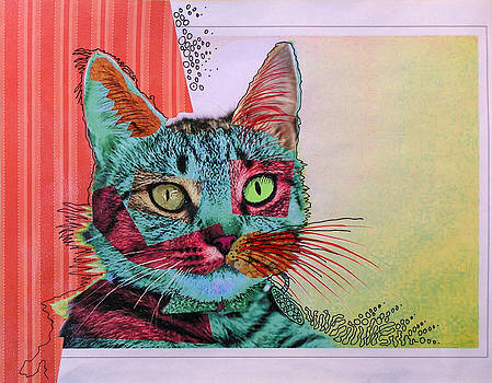 Amy Giacomelli - Sanguine ... Abstract cat art