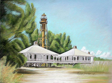 Sanibel Lighthouse by Melinda Saminski