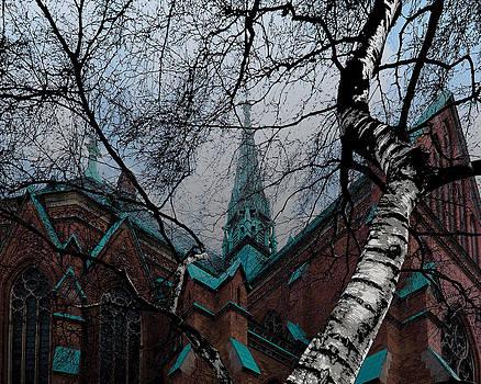 Sankt Johannes kyrka Stockholm by Evgeny Lutsko