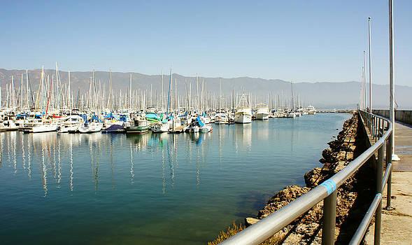 Santa Barbara Harbor on a Good Day by Nadra Raquel