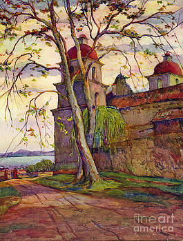 California Views Mr Pat Hathaway Archives - Santa Barbara Mission by Rowena Meeks Abdy 1887-1945 Early Cal circa 1910