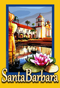Santa Barbara Mission Poster by Michelle Scott
