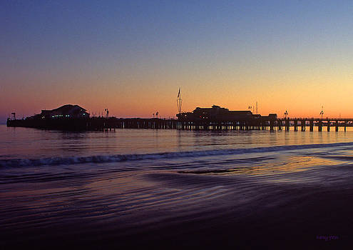 Kathy Yates - Santa Barbara Pier at Sunset