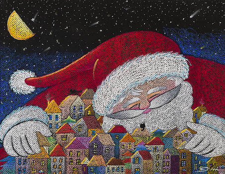Santa Claus in town by Semiramis Paterno