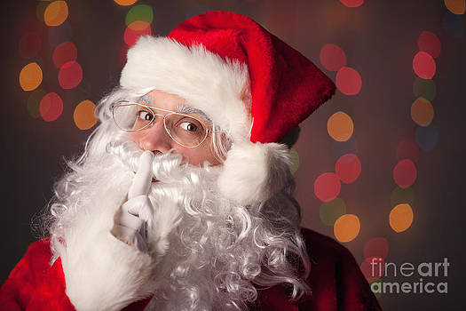 Santa Claus Says Shhh by Sharon Dominick