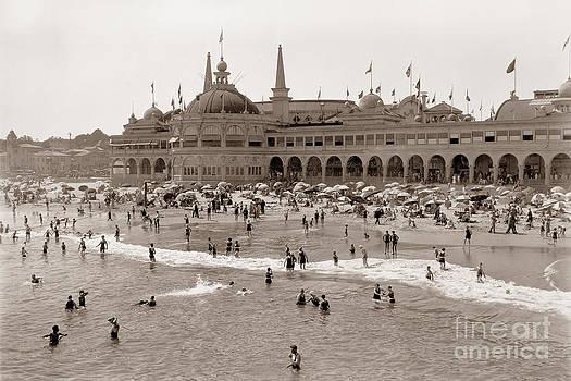 California Views Archives Mr Pat Hathaway Archives - Santa Cruz Beach from Pleasure Pier  California circa 1908