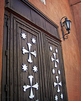 Santa Cruz de la Canada Mission Doors by Julie Magers Soulen