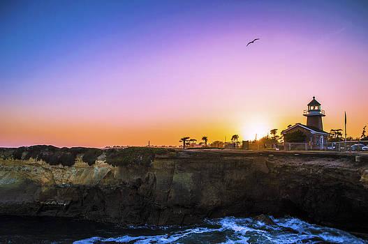 Santa Cruz Lighthouse Sunset by Brandon McClintock
