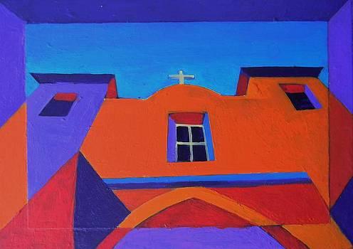 Santa Fe Church by Deliara Yesieva
